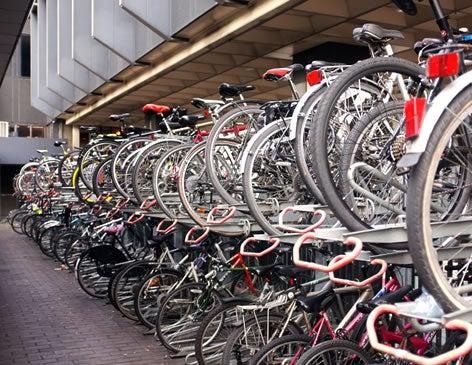 Bicycle lock up at The O2