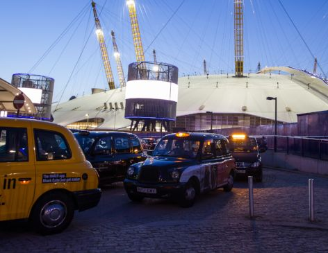 Getting to The O2 by Taxi