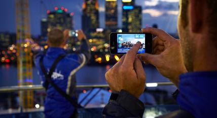 Up at The o2 App skyline London