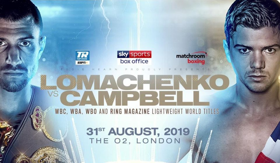 More Info for Vasiliy Lomachenko v Luke Campbell for the Unified Lightweight Championship of the World