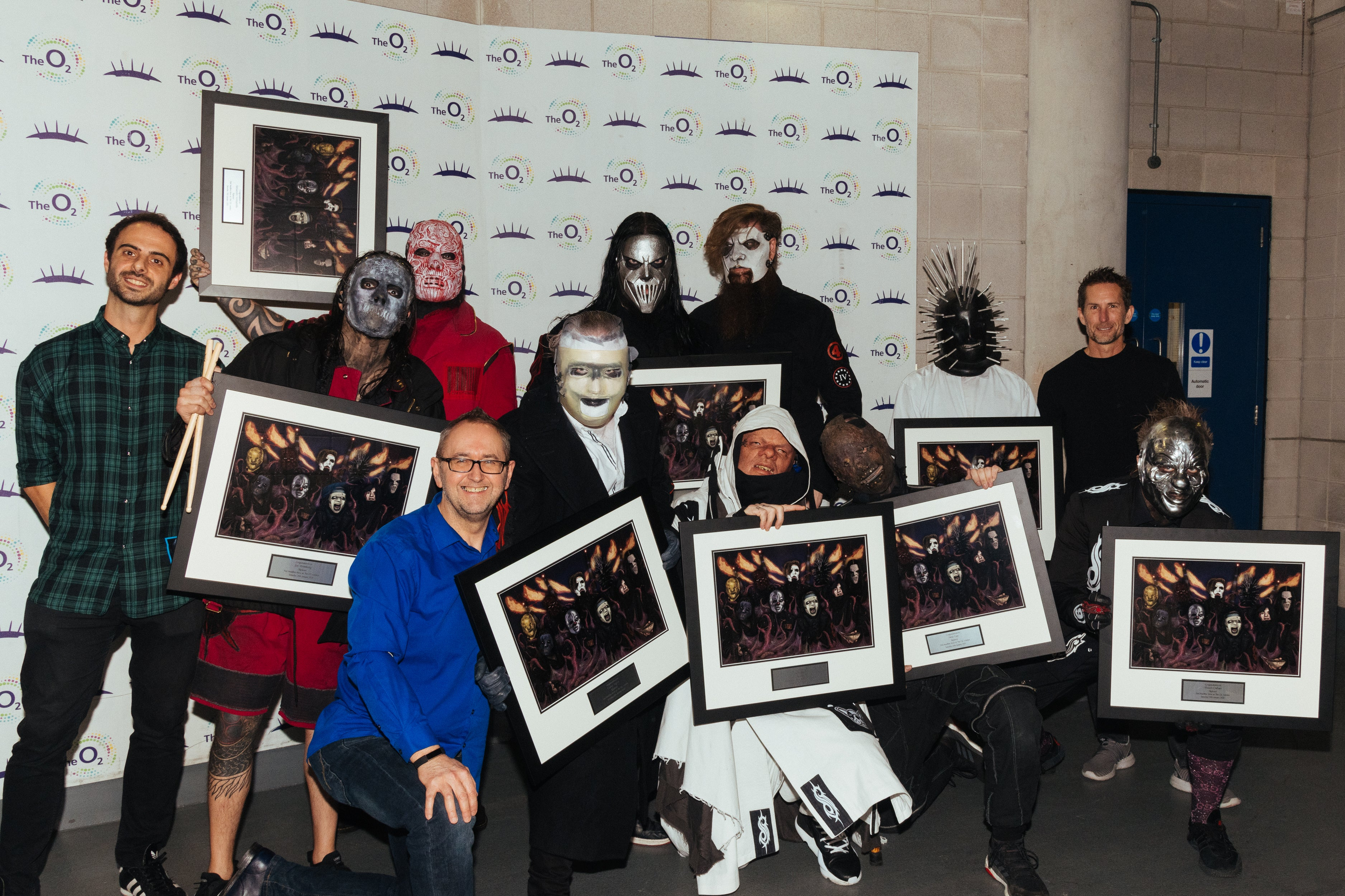 Slipknot presented with First Time award at The O2