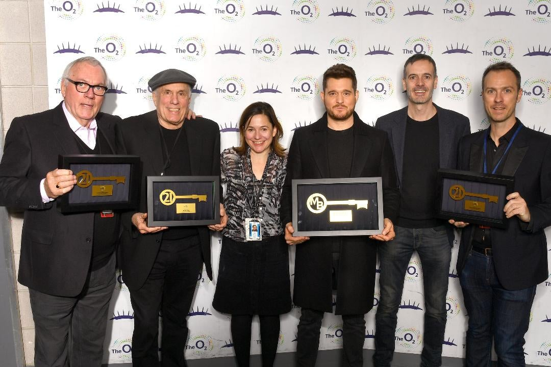 Michael Bublé becomes fifth musician to join The O2's 21 Club