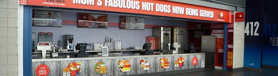 Mom's Fabulous hot dogs The O2
